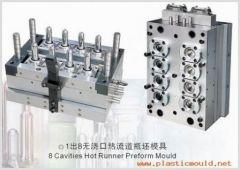 8cavity hot-runner preform mould