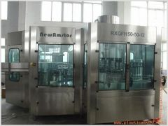 Hot filling line for juice and tea