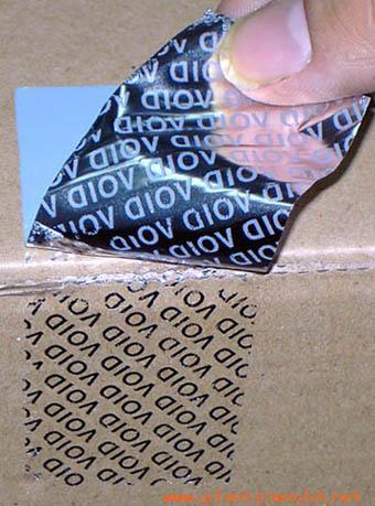 Total Transfer Tamper Evident Printing Material