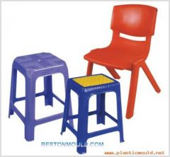 Plastic furniture-stool
