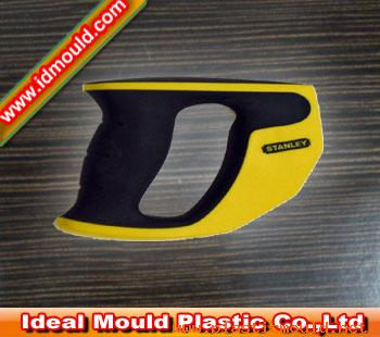 Double color injection mold of hand machine