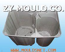 plastic double-tube washing machine mould