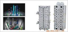 Pneumatic needle valve injection perform bottle mould