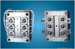 1mould/6cavity self-locking Pneumatic needle valve injection perform bottle mould