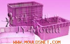 plastic turnover box mould