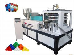 high-speed rotary bottle cap moulding machine