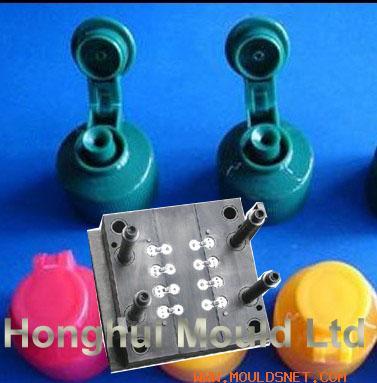 plastic flip top cap mould