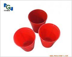 red plastic column mould