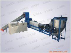HDPE film tracked transport plastic granulator