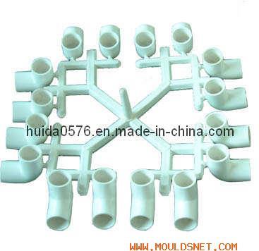PVC Pipe Fitting-16 Cavities Elbow 90 Deg