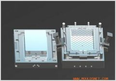 plastic turnover box injection mould/mold
