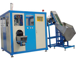 Two cavity automatic stretch blow moulding machine