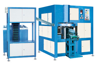 Automatic stretch blow moulding machine