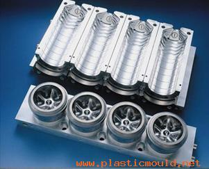 4 cavities mineral water bottle blow mould