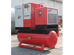 Combined screw air compressor