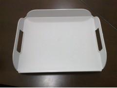 White Elegant Acrylic Unique Coffee Trays Plastic Product