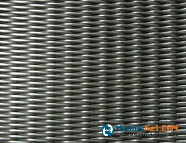 A piece of twill dutch stainless steel woven wire cloth.