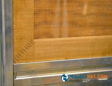 Copper plain weave woven wire cloth is installed on the windows.