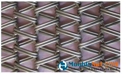 A balanced weave co<em></em>nveyor belts with double spiral wires