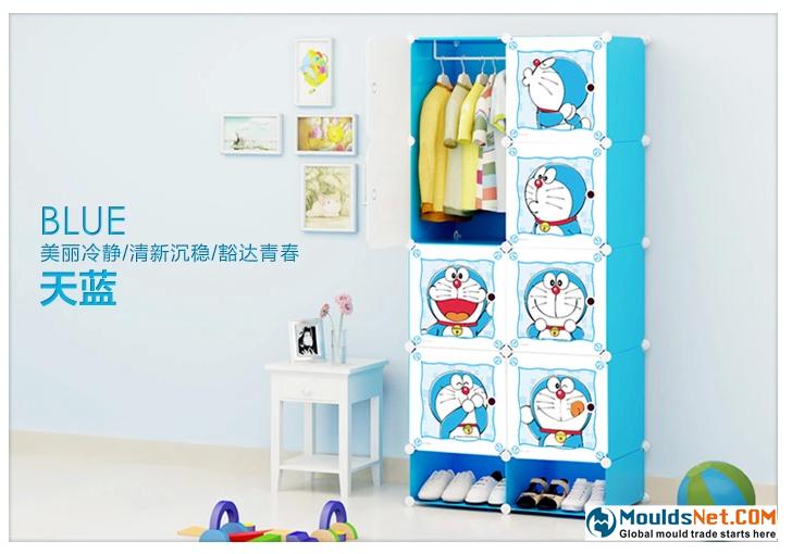 蔻丝哆啦A梦卡通收纳柜子宝宝衣柜简易组装塑料衣柜收纳柜寇丝-tmall.com天吧猫