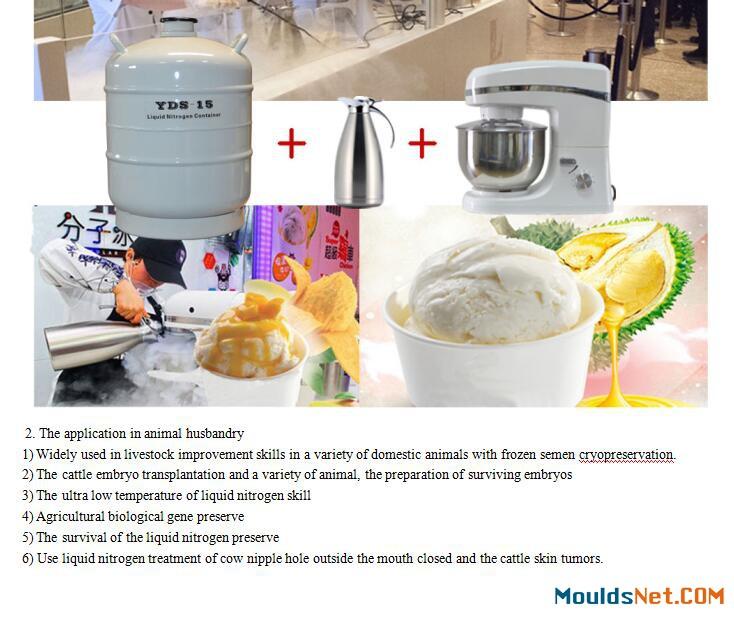 Cryo liquid nitrogen dewar co<em></em>ntainer 80L aluminum alloy ln2 tank manufacturer in GA