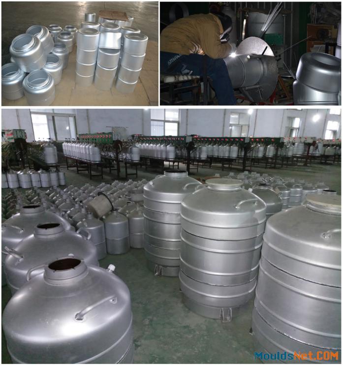 Liquid nitrogen co<em></em>ntainer 100L aluminum alloy cacuum tank