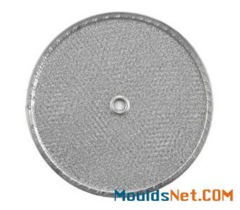 Round range hood filter has aluminum f<em></em>rame and a center hole
